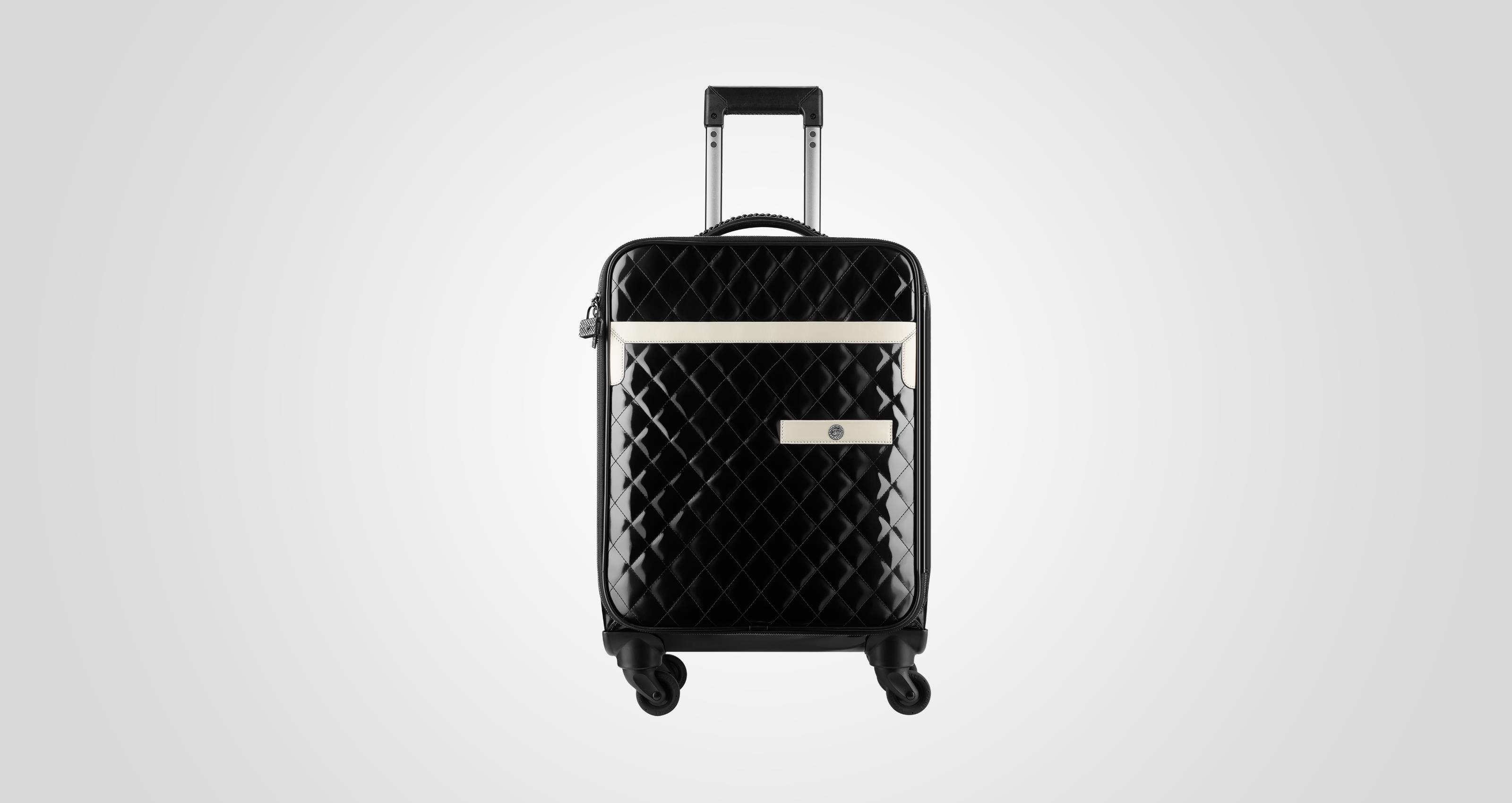 Chanel two-tone quilted leather trolley