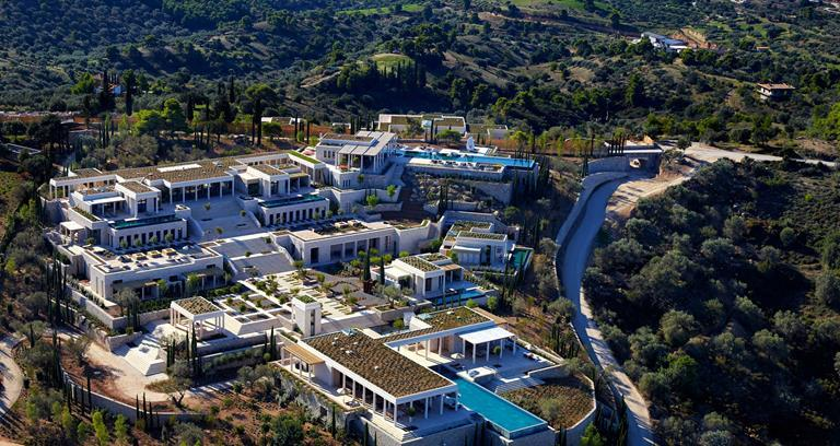 The full expanse of Villa 20 is only truly revealed from the air