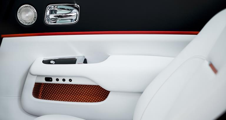 Interior detail, Dawn Inspired by Fashion in Mugello Red