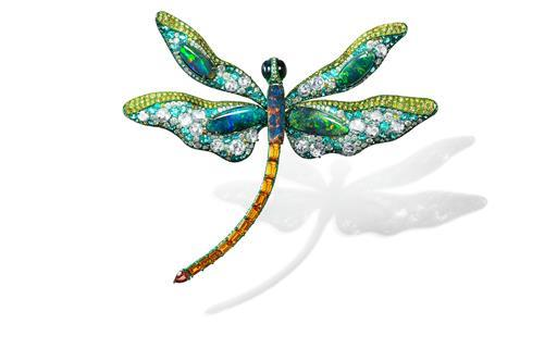 Anna Hu dancing dragonfly brooch